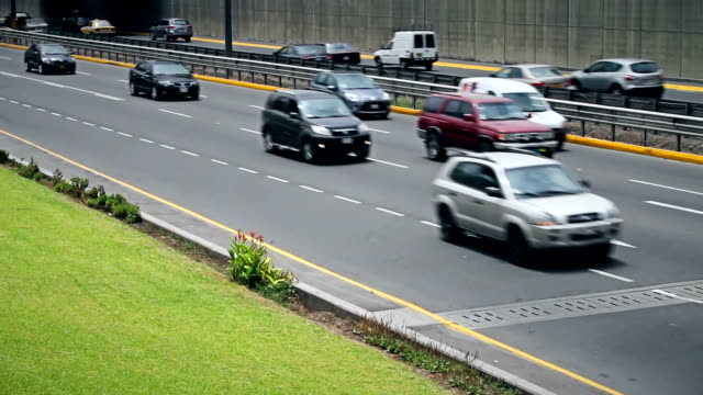 Cars passing by in Lima Peru video