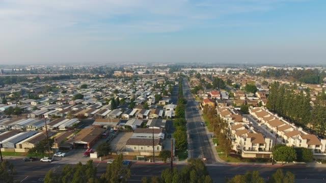 Carson California Homes Aerial video