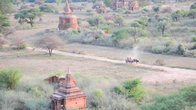 Cart in Bagan Bagan myanmar stock videos & royalty-free footage