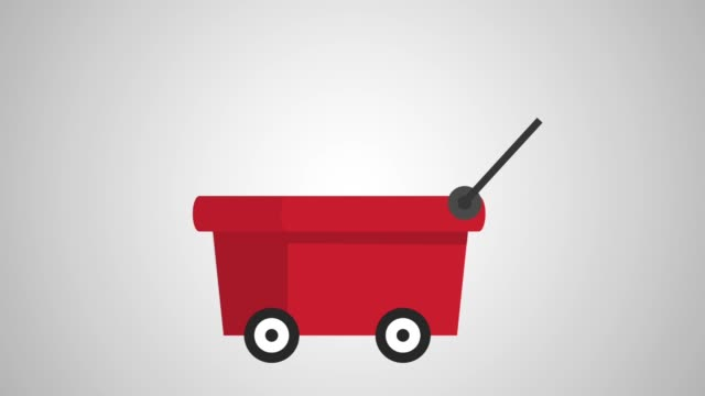 cart with trophys animations video