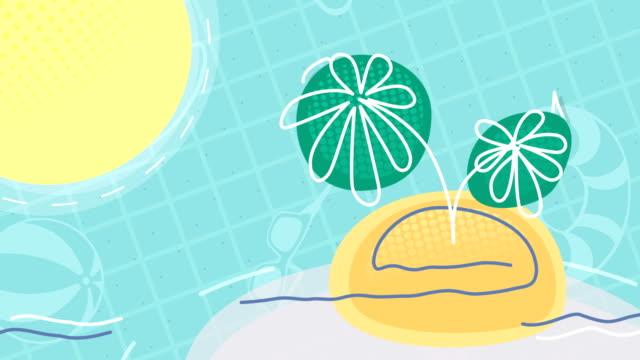 Cartoon Background Tropical Island video