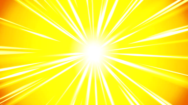 cartoon beam animation. shiny sun background. sunburst rays in heaven. abstract loop design. - flare video stock e b–roll