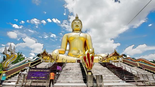 cartoon Big Buddha Golden. video