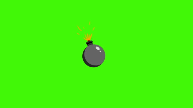 vídeos de stock e filmes b-roll de cartoon bomb explosion. bomb animation - bomba
