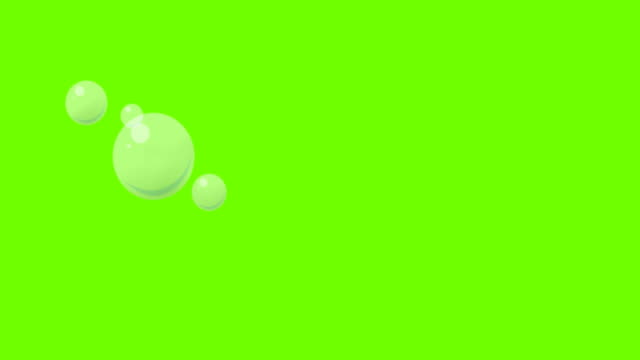 cartoon bubble on greenscreen - bolla video stock e b–roll