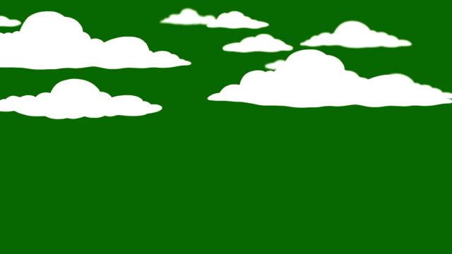 vídeos de stock, filmes e b-roll de desenho de nuvens em uma tela verde - cúmulo