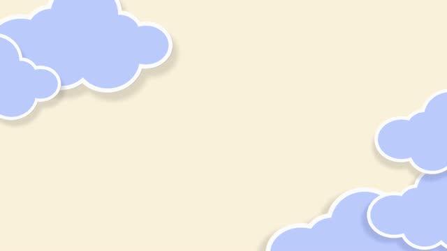 vídeos y material grabado en eventos de stock de nubes de dibujos animados pastel colorido fondo kawaii. movimiento de derecha a izquierda - feminidad