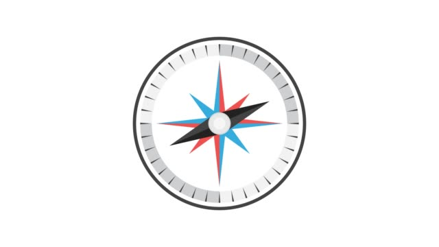 Cartoon Compass. Loop animation. 4K resolution. Cartoon Compass. Loop animation. 4K resolution. navigational compass stock videos & royalty-free footage