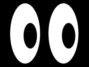 vídeos y material grabado en eventos de stock de dibujos animados de los ojos (pal 25p - dibujo