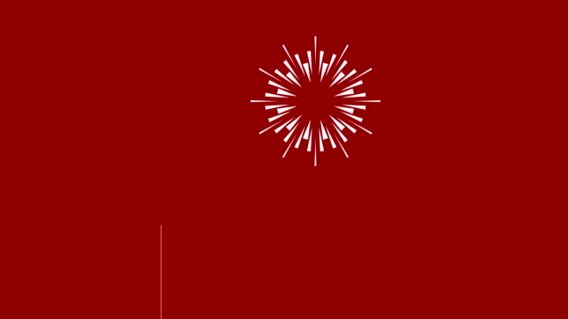4K Cartoon Firework Animation |Loopable