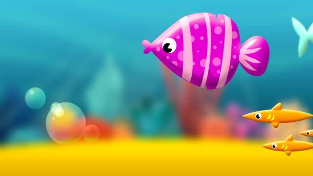 Cartoon Fish underwater