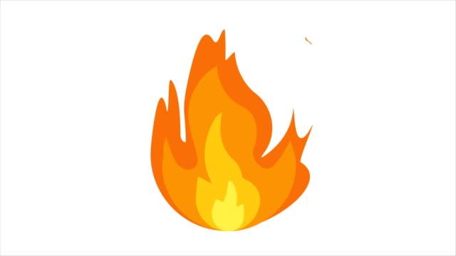 karikatür alev animasyon. alev arka plan ve doku. karikatür yangın animasyon. 4k video - şenlik ateşi stok videoları ve detay görüntü çekimi