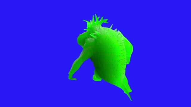 cartoon germs bacteria viruses 3D render
