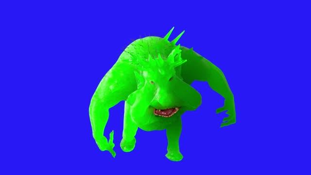vídeos de stock e filmes b-roll de cartoon germs bacteria viruses 3d render - characters