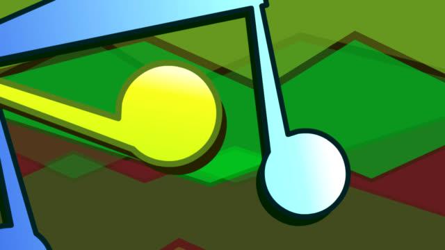 Cartoon Musical Notes Dancing video