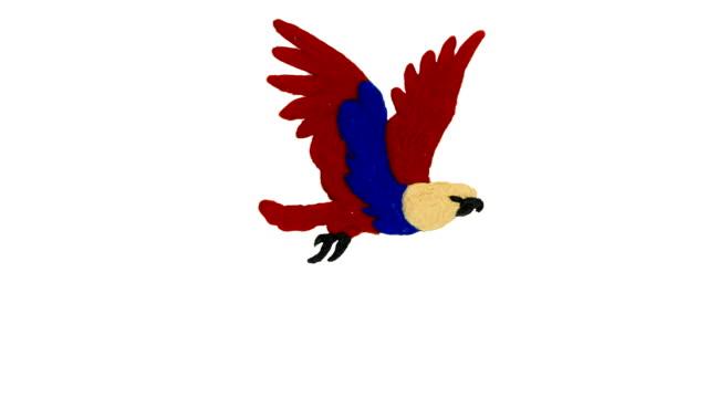 Cartoon of plasticine eagle. Cartoon of plasticine eagle. Looped video with alpha channel. eagle bird stock videos & royalty-free footage