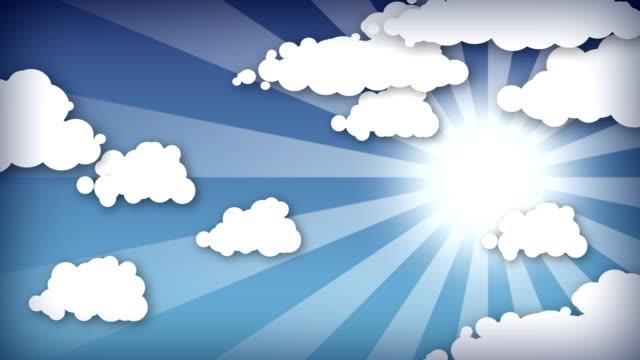 Cartoon sky. HD. Loop. video