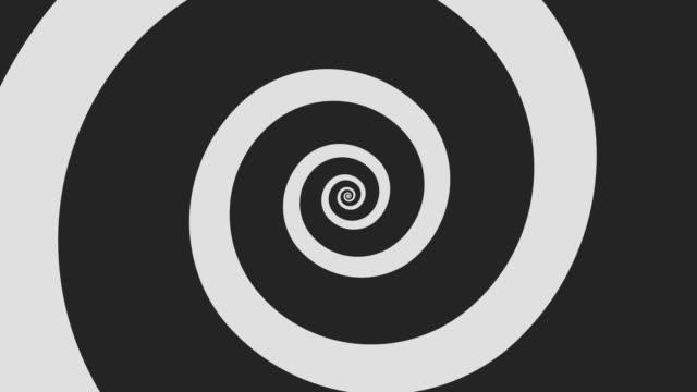 vidéos et rushes de dessin animé spirale tourne en boucle - entonnoir