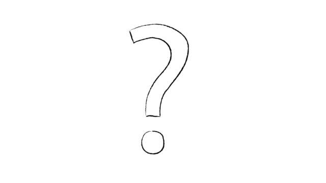 fumetto stile punto interrogativo su sfondo bianco - question mark video stock e b–roll