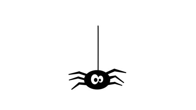 tecknad stil spindel. halloween. - spindel arachnid bildbanksvideor och videomaterial från bakom kulisserna