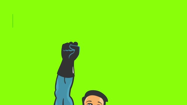 Cartoon Super Hero Fly video