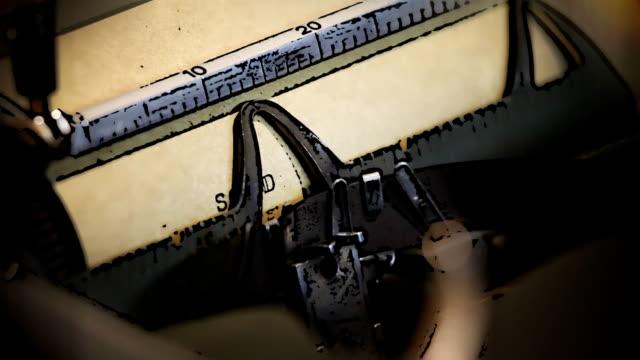 Cartoon typewriter Txpewriter converted to cartoon image scandal abc stock videos & royalty-free footage
