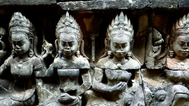 Carvings At Leper King Terrace, Angkor Thom, Siem Reap, Cambodia video