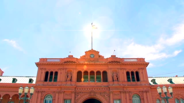 Casa Rosada Building (The Pink House) In Buenos Aires (Argentina). video