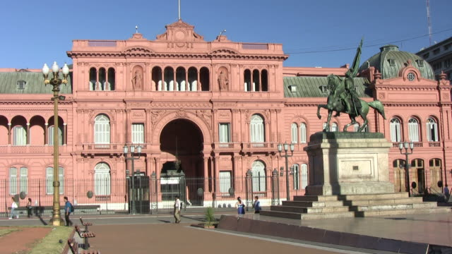 casa rosada - argentyna filmów i materiałów b-roll