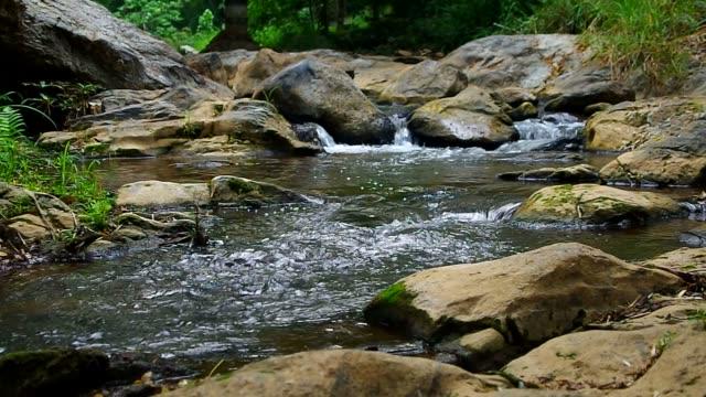 cascade flow of Mae Sa Waterfall video