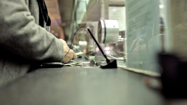 Cash Exchange - Bank Teller Changing Money Bills Giving Change video