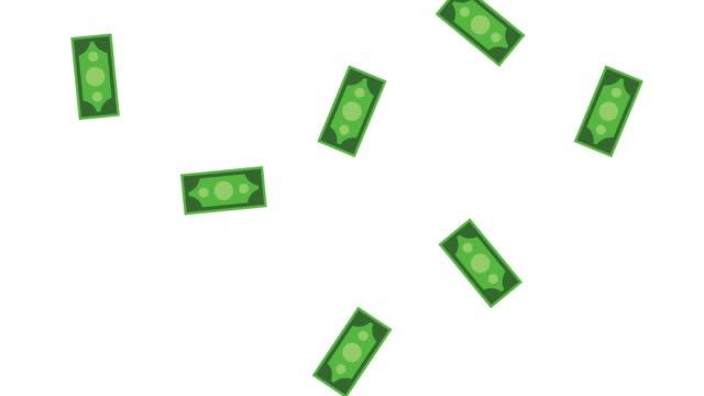 Cash falling background HD animation Billets falling over white background High Definition animation colorful scenes us paper currency stock videos & royalty-free footage