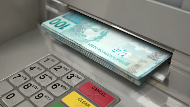 cash withdrawel real - banks and atms stock videos & royalty-free footage