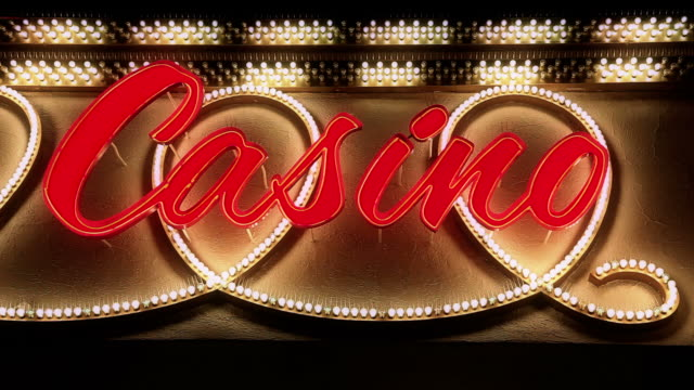 casino neon sign in hd - bachelor party stock videos and b-roll footage