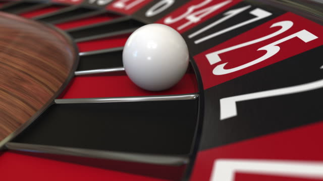 casino roulette rad ball trifft 25 fünfundzwanzig rot - zahl 25 stock-videos und b-roll-filmmaterial