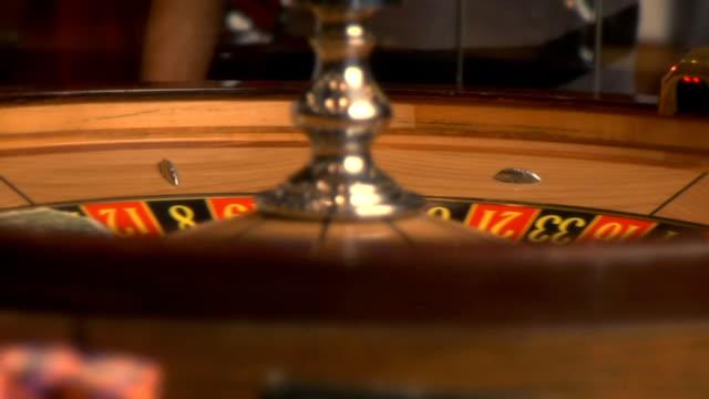 Casino roulette wheel video