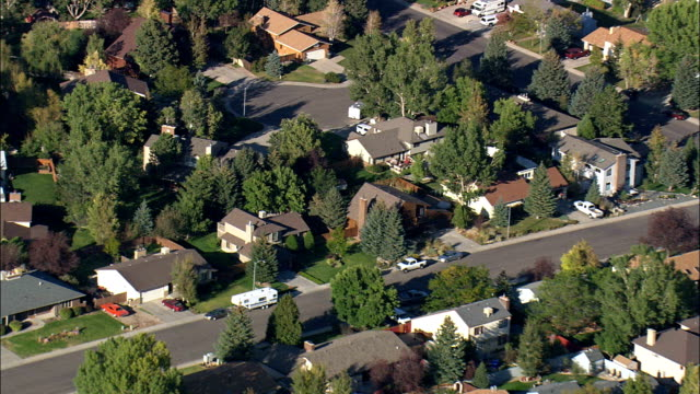 Caspar Suburbs Off Blackmore Road  - Aerial View - Wyoming, Natrona County, United States video