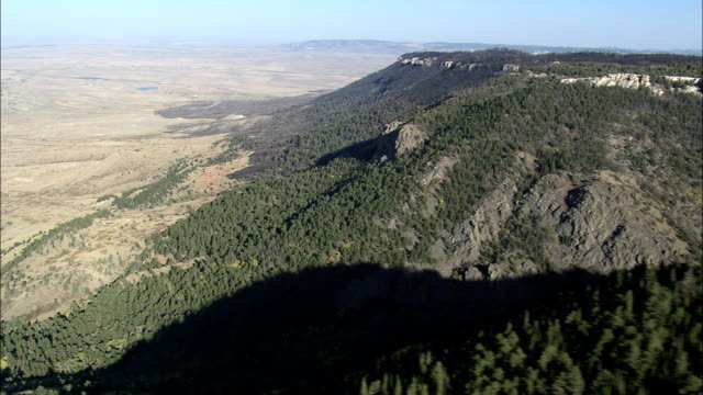 Casper Mountain - Aerial View - Wyoming, Natrona County, United States video
