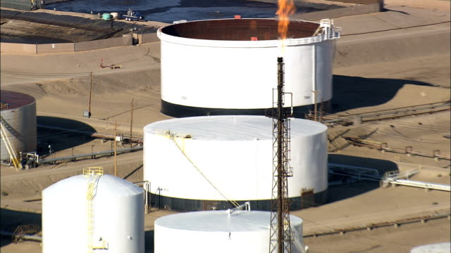 Casper Oil Refinery - Aerial View - Wyoming, Natrona County, United States video