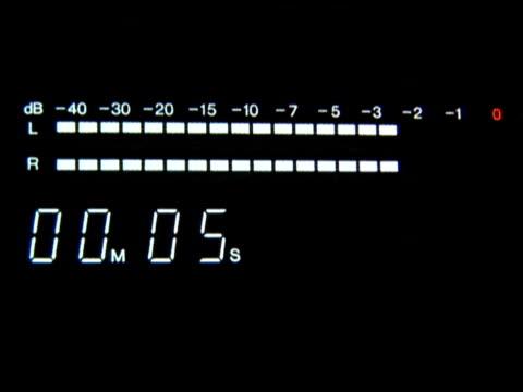 vu メータカセットデッキ - 文字記号点の映像素材/bロール