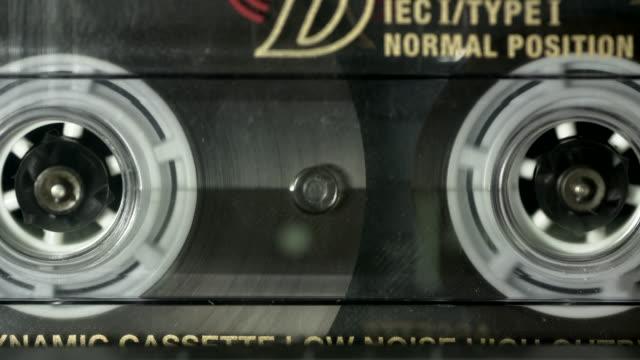 Cassette recorder tape running - close setting