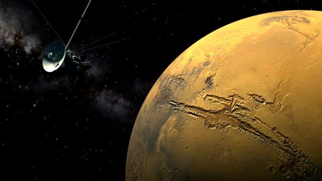 Cassini orbiter passing Mars video
