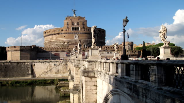 castel sant'angelo. rome. - peter the apostle bildbanksvideor och videomaterial från bakom kulisserna
