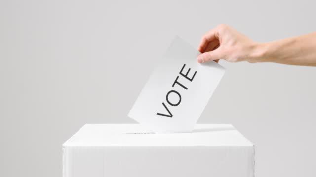 vidéos et rushes de vote de vote dans l'urne - picto urne