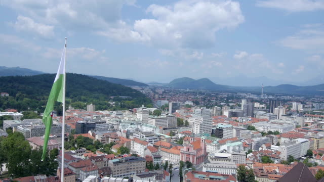 AERIAL: Castle above the town video
