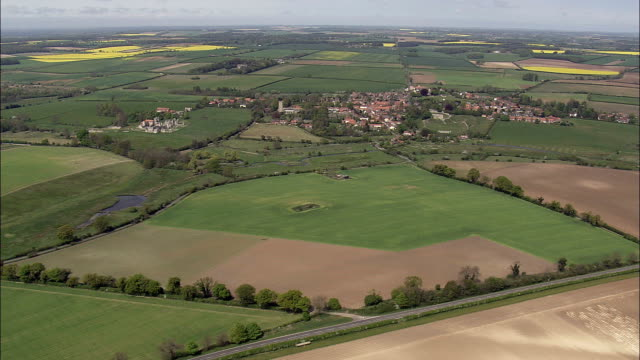 Castle Acre  - Aerial View - England, Norfolk, King's Lynn and West Norfolk District, United Kingdom video