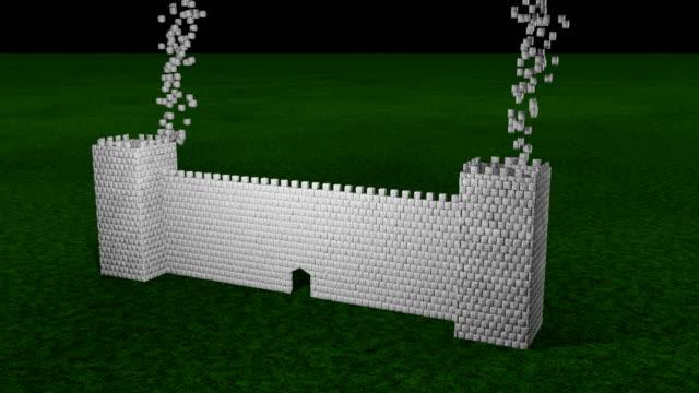 castle bygga animation - ancient white background bildbanksvideor och videomaterial från bakom kulisserna