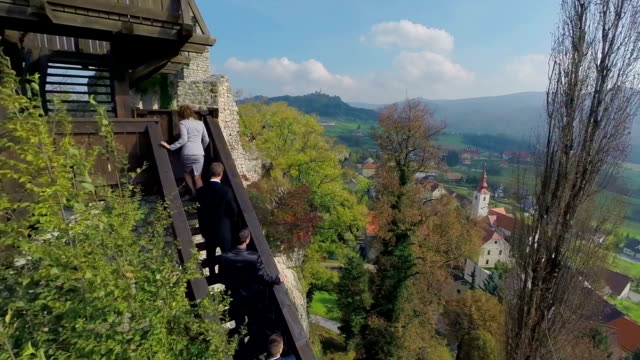 Castle in the middle of the countryside video