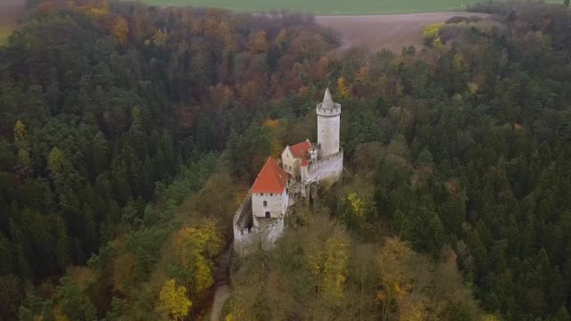 チェコ共和国 - 空撮で城・ ココリン - チェコ共和国点の映像素材/bロール