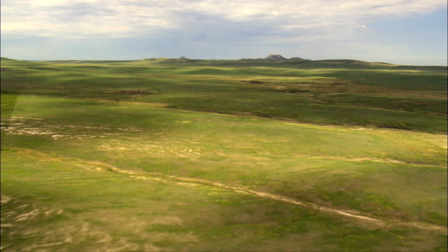 Castle Rock Buttes  - Aerial View - South Dakota,  Butte County,  United States video